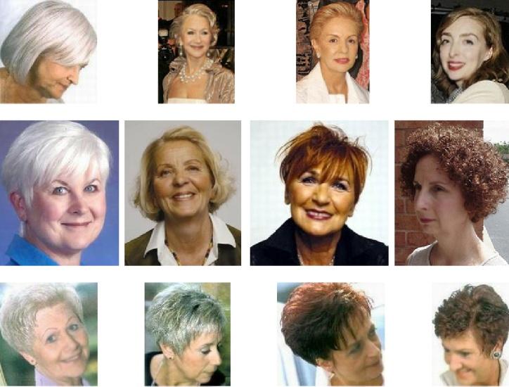 Стрижки на седые волосы после 55 лет