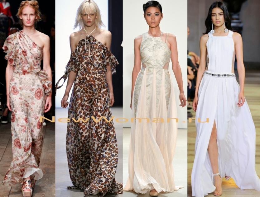 Объемные платья в пол