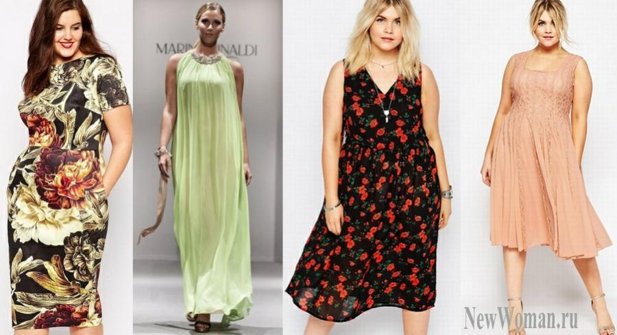 Платья для полных дам летние