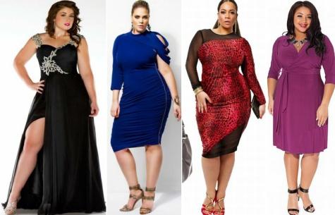 Стильные платья фото полным