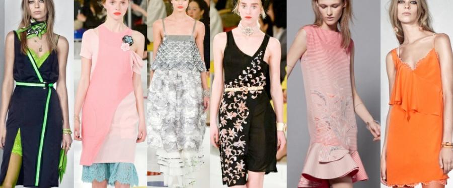 Модные многослойные платья