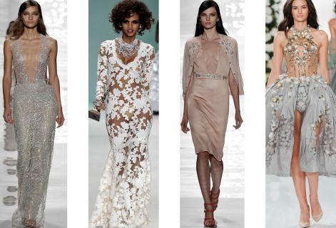 Платье из прозрачной ткани длинное