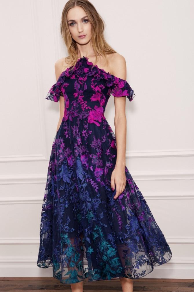 e44215e57c7 модное платье с оборками для школьного выпускного вечера