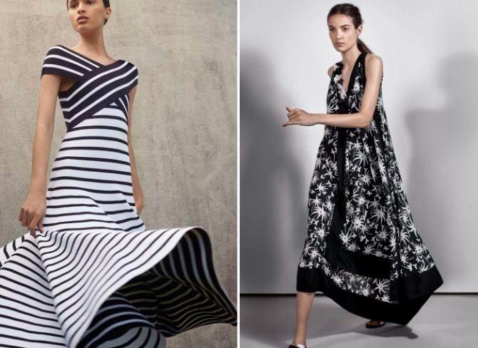 7ed5b0a6ba4 черно-белые летние платья 2018