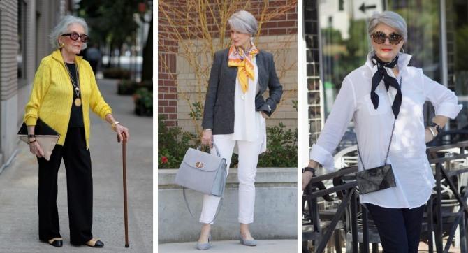 373853f1a71 деловая мода для пожилых весна-лето 2018 - белые рубашки
