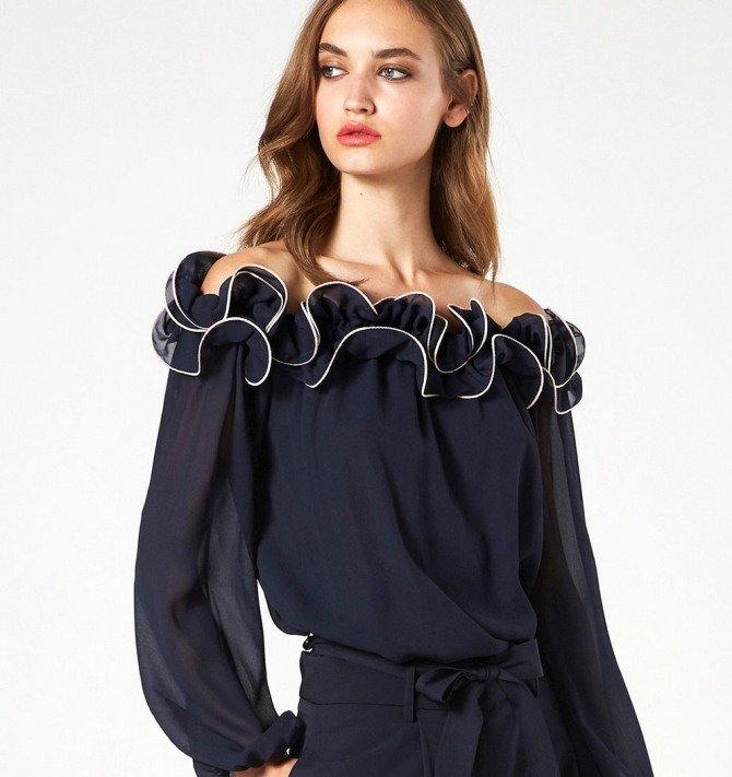Красивые черные блузки