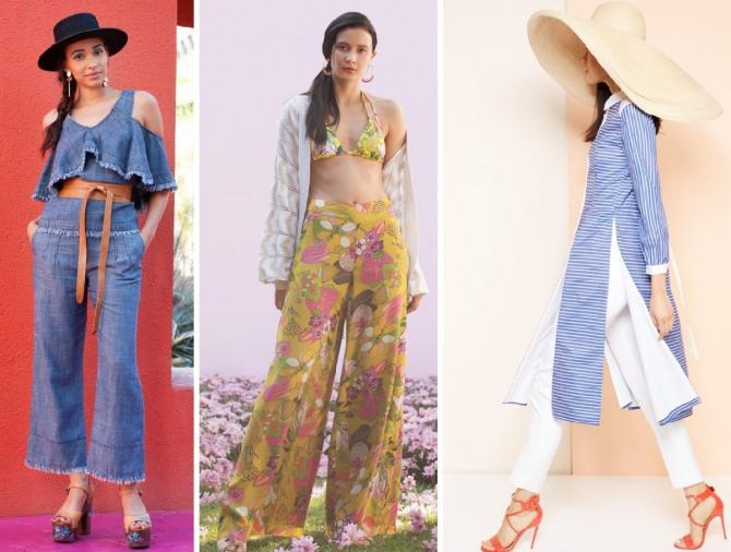 094ed13eb96 Курортные варианты летних брючных костюмов 2018 - джинсовый