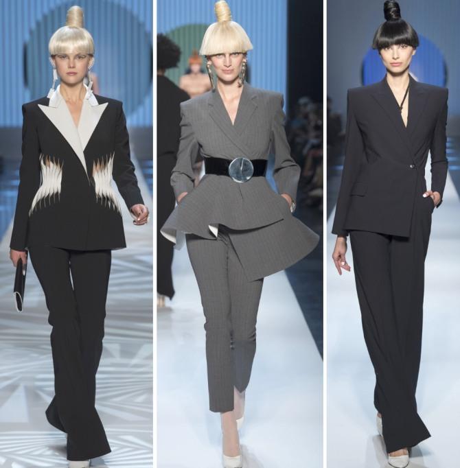 314154358f3de деловой гардероб 2019 - модные деловые женские костюмы дизайнера Жан-Поль  Готье