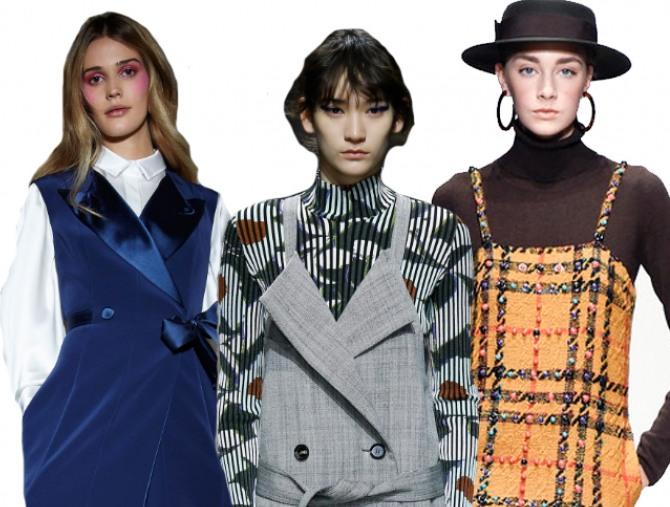 ce67d480942 Деловой модный сарафан 2019 для офиса  фото моделей из дизайнерских  коллекций на 2019 год