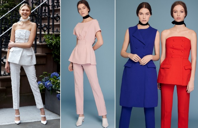 be95f17c6af вечерние варианты летних костюмов для девушек на 2019 год от бренда Lela  Rose