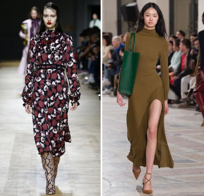 трикотажные платья 2019