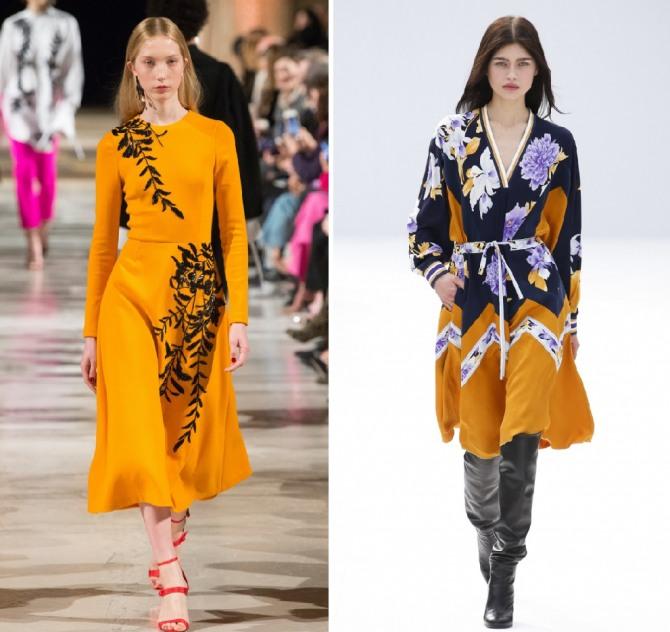 элегантные и модные платья 2019 от Oscar de la Renta,Leonard Paris