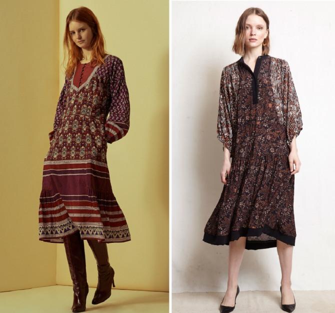 платья на осень 2019 в ретро стиле