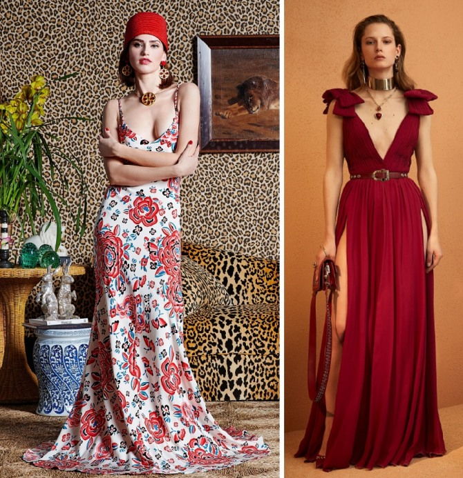 платья в пол для летней вечеринки от Rebecca de Ravenel,Elie Saab