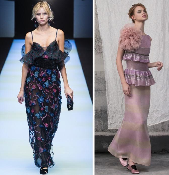 платья в романтическом стиле с оборками от Giorgio Armani