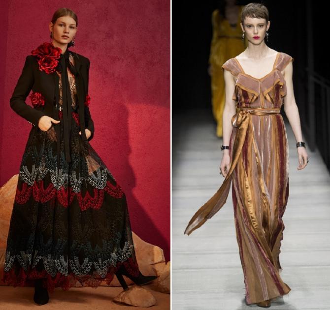 осенние платья на вечер от Elie Saab, Bottega Veneta
