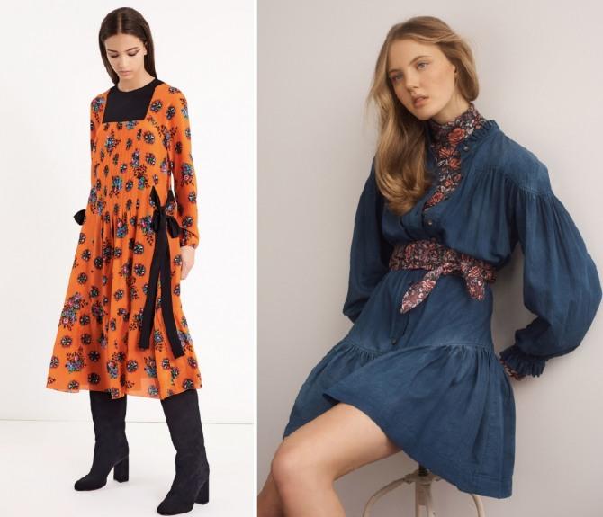 красивые платья на осенний сезон с модных показов - Red Valentino,La Vie Rebecca Taylor