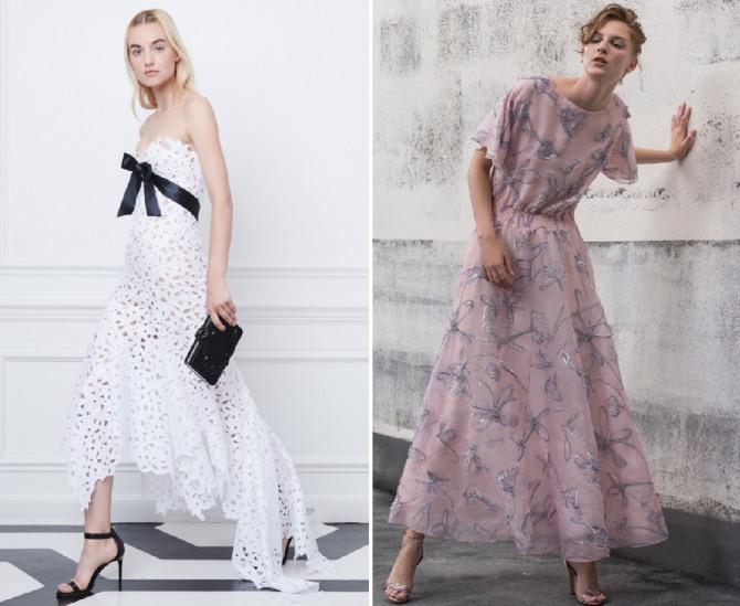 модные платья 2019 на летний праздник от брендов Oscar de la Renta,Giorgio Armani