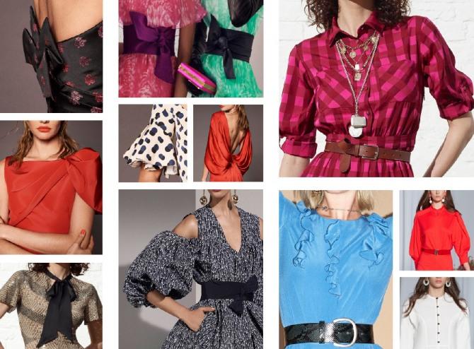 модные детали дизайнерских платьев 2019 крупным планом