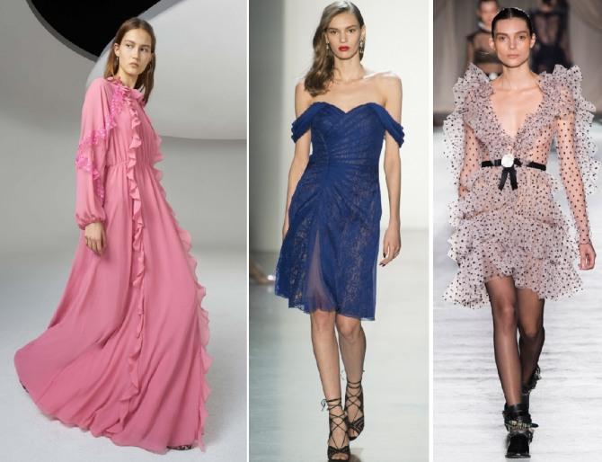 романтические и сексуальные платья на торжество - мода весны 2019