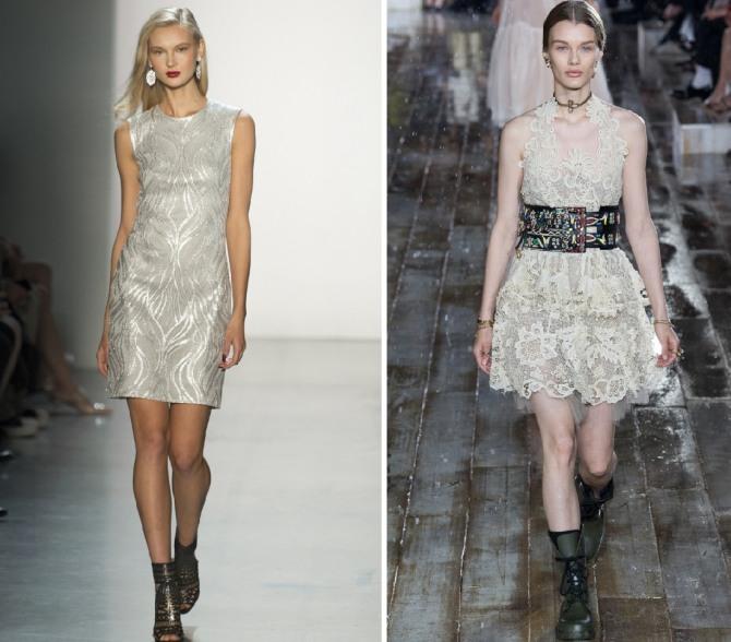 светлые летние платья-мини 2019 на выход от дизайнерских домов Tadashi Shoji,Christian Dior