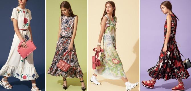летние платья от модного дома Red Valentino