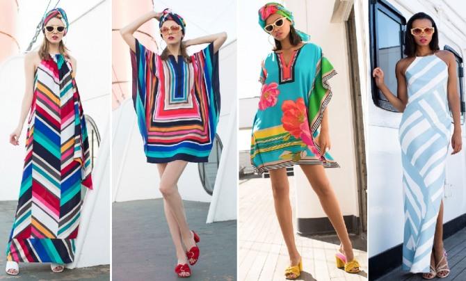 модные модели и расцветки платьев для отпуска 2019