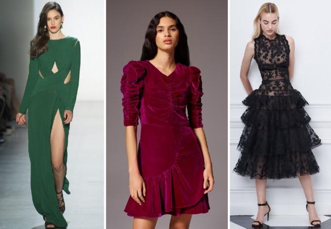 035e2999772 зимние вечерние платья 2019 - фото с модных показов