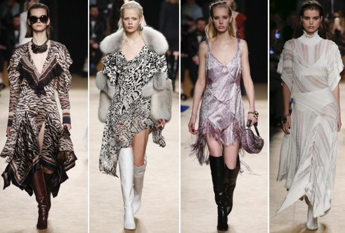 идеи платьев на вечер от Roberto Cavalli - зима 2019