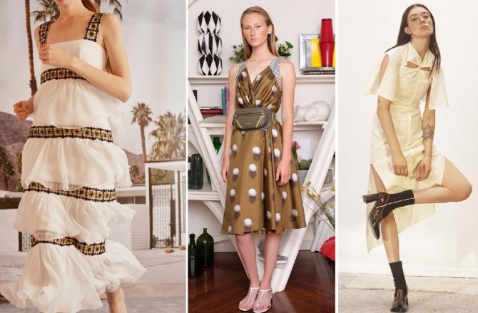 модные луки с подиумов - какие платья модные летом 2019 года - Carolina Herrera,Vionnet,Ellery