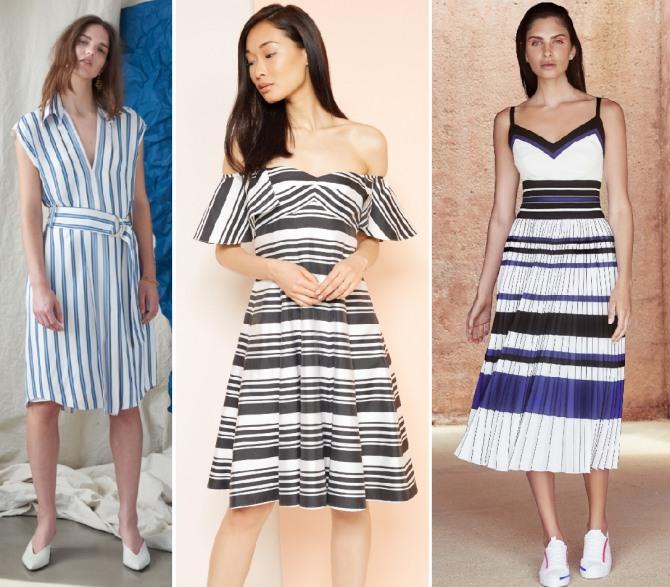 платья для девушек в полоску - летние тренды 2019