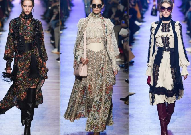 платья с накладными корсетными поясами с модных показов 2019