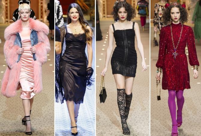 платья от кутюр - мода зимнего сезона 2019 от Dolce & Gabbana