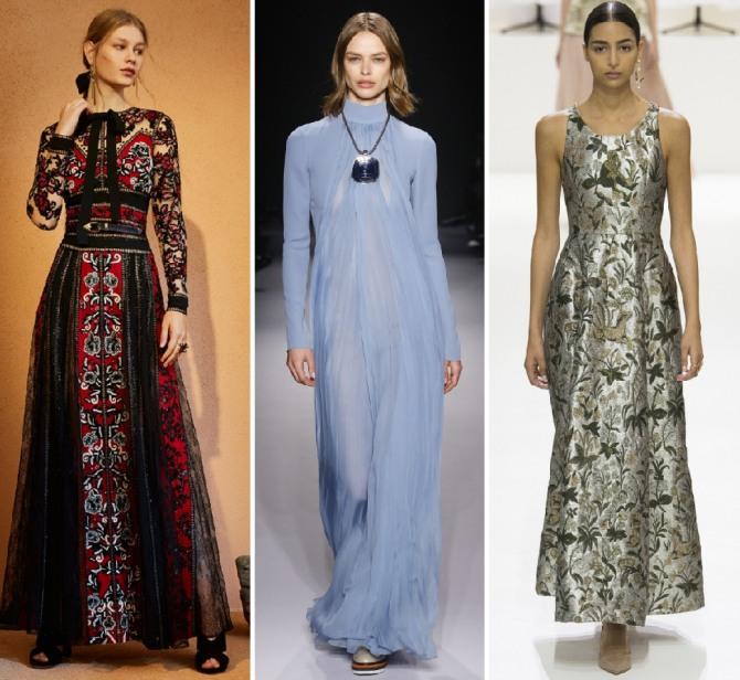 длинные вечерние платья на весну 2019 от брендов Elie Saab,Lanvin,Christian Dior
