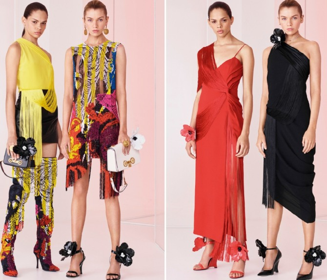 вечерние летние платья 2019 от Versace