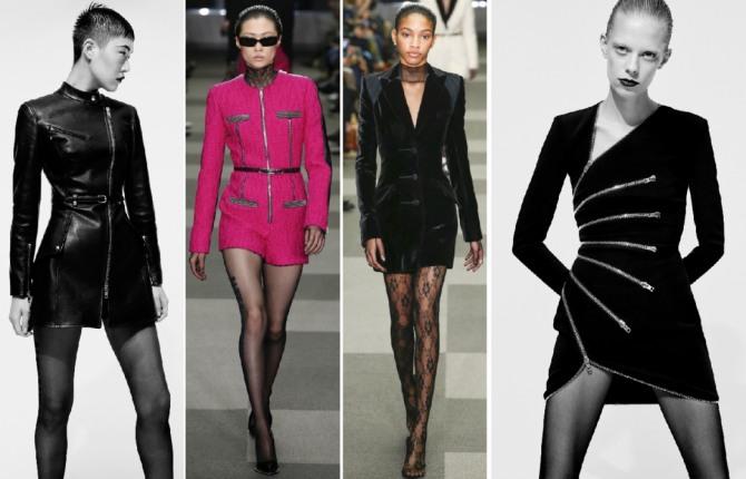 зимние платья мини 2019 - из кожи, бархата и трикотажа