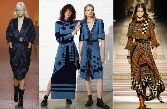 зимние модели модных платьев 2019