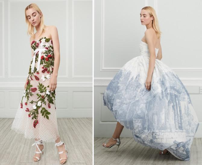 шикарные летние вечерние платья 2019 от Oscar de la Renta