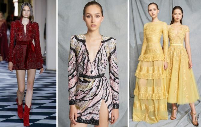 мода на платья 2019 от Zuhair Murad - длинные и короткие модели