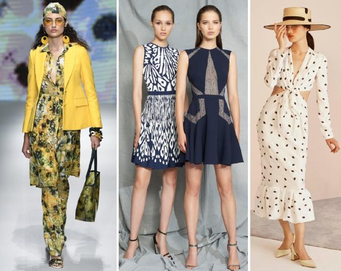 весенние варианты модных платьев 2019