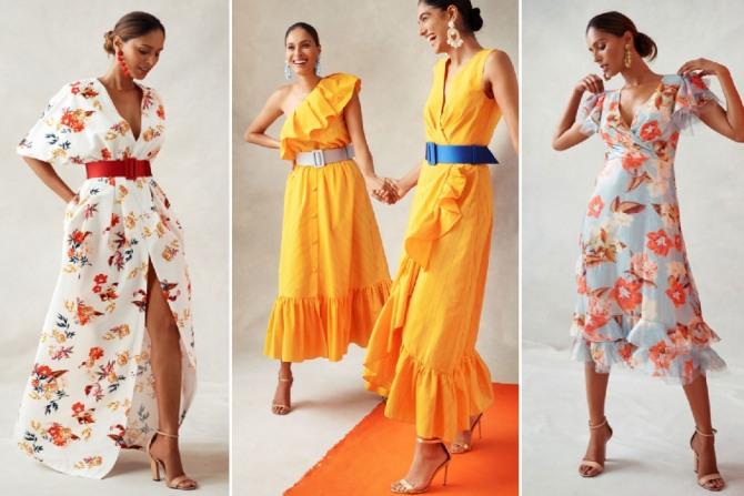 красивые платья на лето 2019 с воланами и цветочным принтом