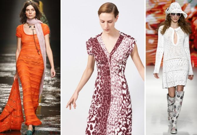 модный трикотаж 2019 - приталенные платья простого фасона