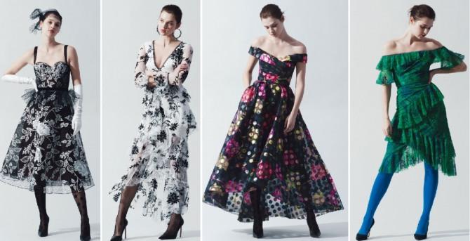 новинки красивых нарядных платьев 2019 от Marchesa Notte