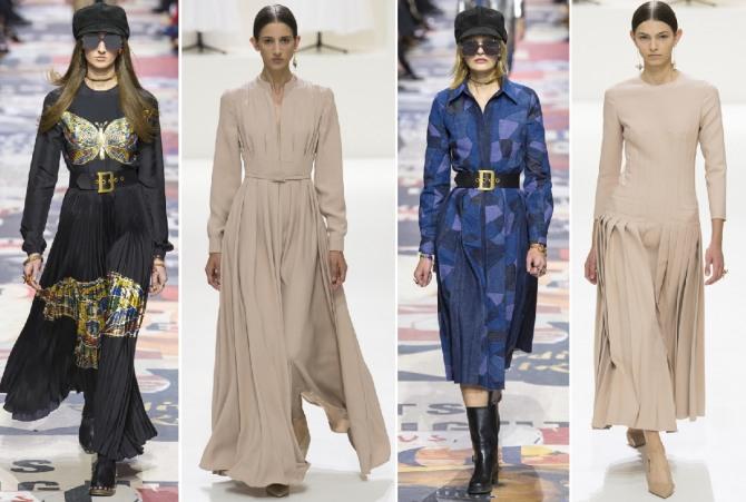 платья с длинными рукавами от модного дома Christian Dior