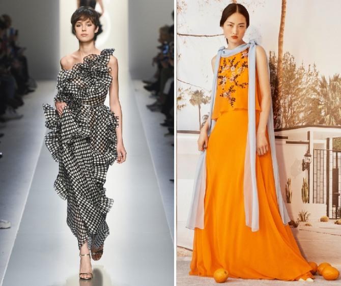 элегантные платья-макси для вечернего летнего выхода от модных домов Ermanno Scervino,Carolina Herrera - летняя мода 2019