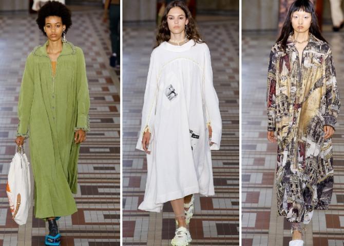 платье-рубашка, платье-балахон с длинными рукавами