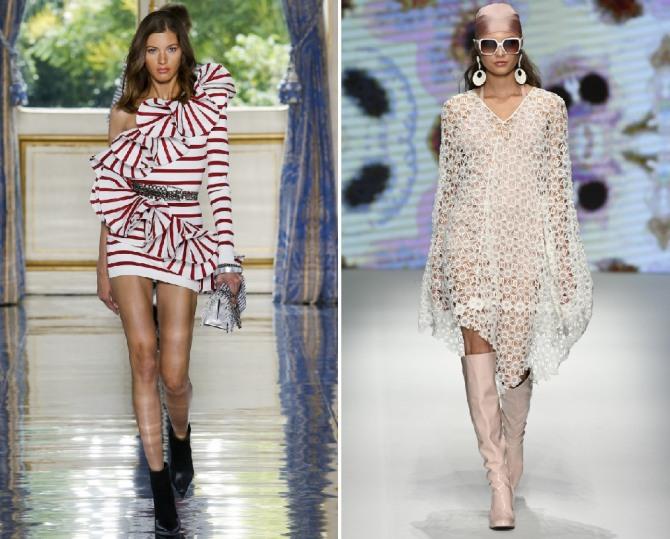 красивые нарядные платья на весну и лето 2019 с модных показов Balmain,Daks