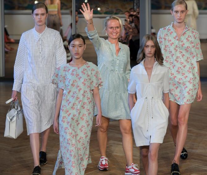 простые фасоны модных летних платьев 2019