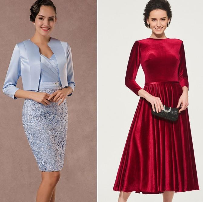 вечерние платья 45-50 лет