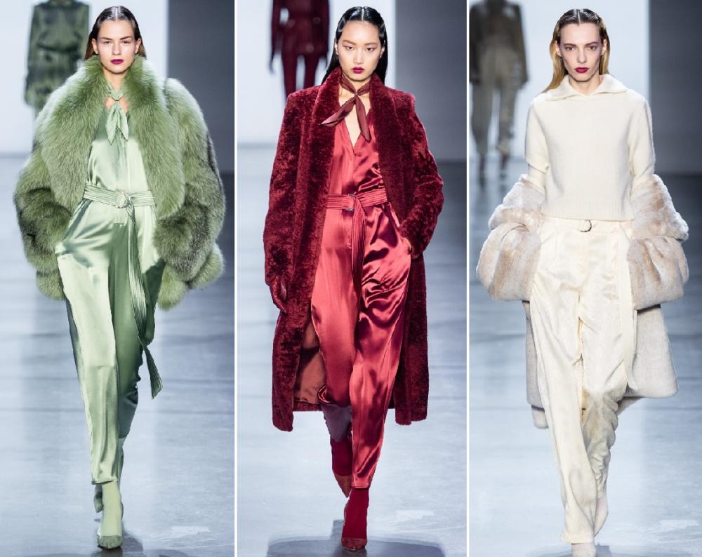 роскошные зимние образы 2020 с мировых подиумов - коллекция меховой женской одежды от Sally LaPointe